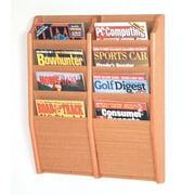 Wooden Mallet 8 Pocket Wall Mount Magazine Rack; Light Oak