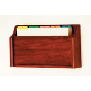 Wooden Mallet Single Pocket Square Bottom Legal Size File Holder; Mahogany