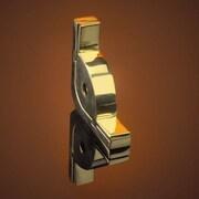 Zoroufy Dynasty 120'' Roped Tubular Stair Rod Set with Smooth Brackets Urn Finials; Brushed Brass