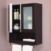 DecoLav Tyson 22'' x 26'' Wall Mounted Cabinet; Espresso