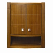 DecoLav Adrianna 22'' x 26'' Wall Mounted Cabinet; Medium Walnut