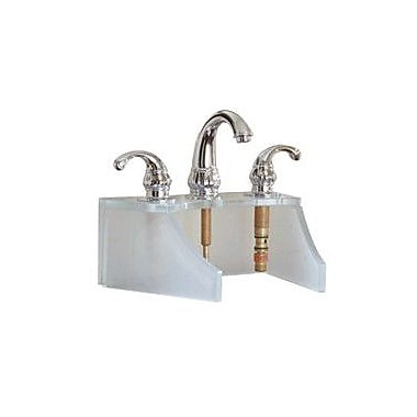 DecoLav Drains and Accessories Frosted Glass Faucet Stand; Crystal