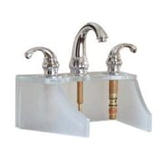 DecoLav Drains and Accessories Frosted Glass Faucet Stand; Amber