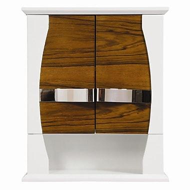 DecoLav Natasha 22'' W x 26'' H Wall Mounted Cabinet; Black Limba / White Gloss