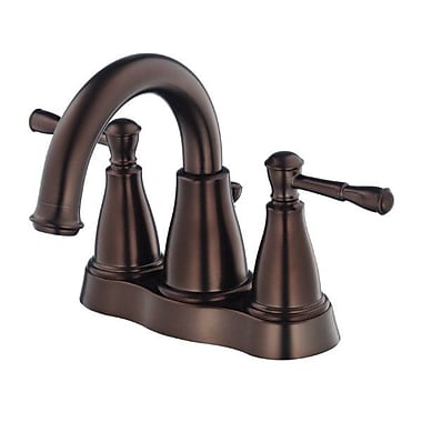 Danze Eastham Double Handle Centerset Bathroom Faucet; Tumbled Bronze