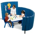 Angeles 48'' SoundSponge Quiet Dividers Wall with 2 Support Feet; Blueberry
