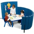 Angeles 48'' x 72'' SoundSponge Quiet Dividers Wall with 2 Support Feet; Blueberry