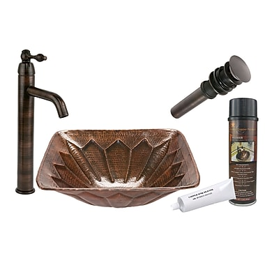 Premier Copper Products Feathered Vessel Bathroom Sink