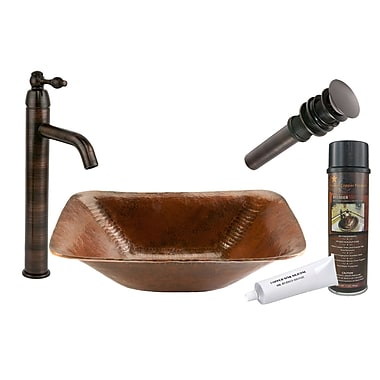 Premier Copper Products Old World Hand Forged Vessel Sink