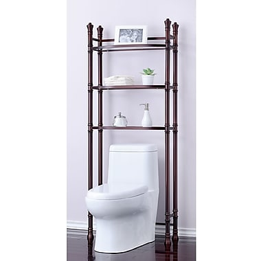 Fox Hill Trading Monte Carlo 26'' x 67'' Bathroom Space Saver Shelf; Oil Rubbed Bronze