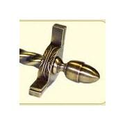 Zoroufy Dynasty 120'' Roped Tubular Stair Rod Set w/Decorative Brackets Acorn Finials; Antique Brass