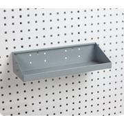 Triton Products LocHook 18 In. W x 6-1/2 In. Deep Gray Epoxy Powder Coated Steel Shelf for LocBoard