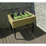 RTS Companies Adjustable Garden Table with Casters; Oak