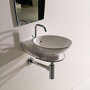 WS Bath Collections Kerasan Swan Wall Hung Bathroom Sink