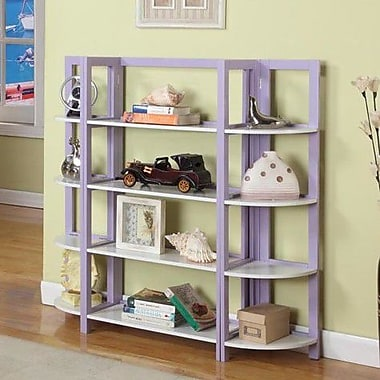 InRoom Designs 42'' Bookcase; Purple / White
