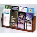 Wooden Mallet Countertop Eight Pocket Brochure Display; Dark Red Mahogany
