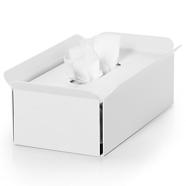 WS Bath Collections Complements Bandoni Free Standing Tissue Box Cover; White