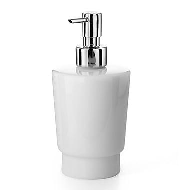 WS Bath Collections Napie Soap Dispenser; Polished Chrome / Ceramic White