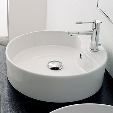 Scarabeo by Nameeks Geo Above Counter Single Hole Bathroom Sink