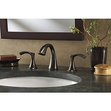 Danze Antioch Double Handle Mini Widespread Bathroom Faucet; Tumbled Bronze