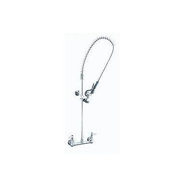 T&S Brass Two Handle Wall Mount Pre-Rinse Bar Faucet w/ Wall Bracket