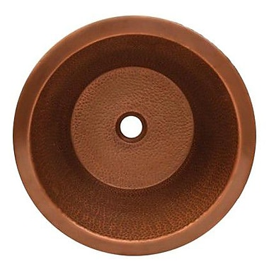 Whitehaus Collection Copperhaus Round Bathroom Sink; Hammered Copper