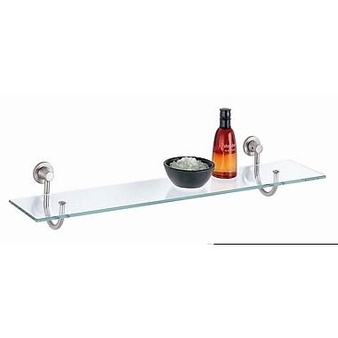 OIA 3.5'' W Bathroom Shelf; Nickel