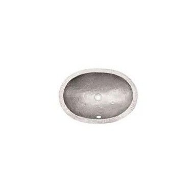 Houzer Hammerwerks Flat Lip Ellipse Bathroom Sink; Pewter