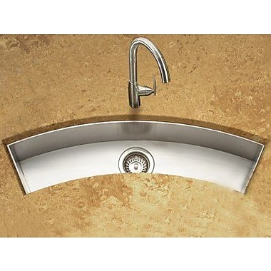 Houzer Contempo 33'' x 11.5'' Zero Radius Undermount Curved Trough Bar Sink