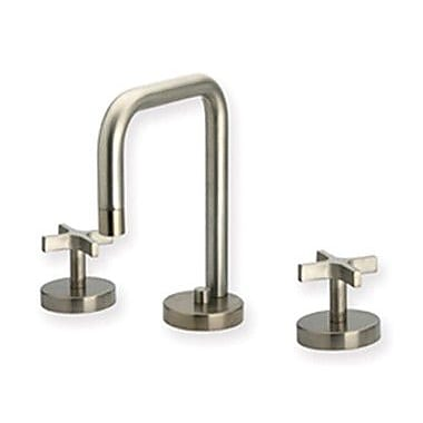 Whitehaus Collection Metrohaus Widespread Bathroom Faucet w/ Double Cross Handles; Polished Chrome