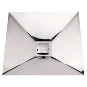 Whitehaus Collection Noah's Square Polished Stainless Steel Bathroom Sink