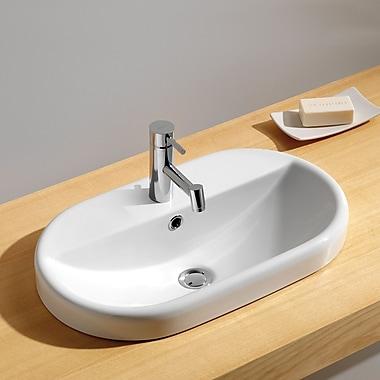 Bissonnet Traffic Meridian Oval Semi Recessed Bathroom Sink