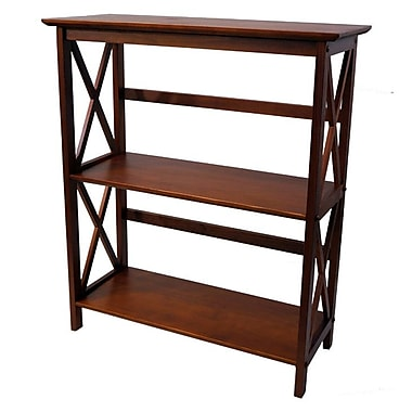 Casual Home Montego 33.5'' Bookcase; Walnut