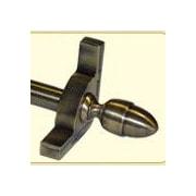 Zoroufy Dynasty 120'' Smooth Tubular Stair Rod Set with Smooth Brackets Acorn Finials; Antique Brass