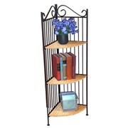 4D Concepts Wicker Corner 43.3'' Bookcase