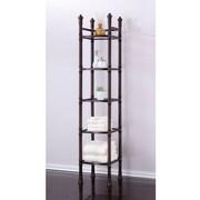 Fox Hill Trading Monte Carlo 14'' x 67'' Bathroom Tower Shelf; Oil Rubbed Bronze