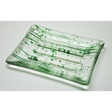 Hot Knobs Soap Dish; Green Mardi Gras