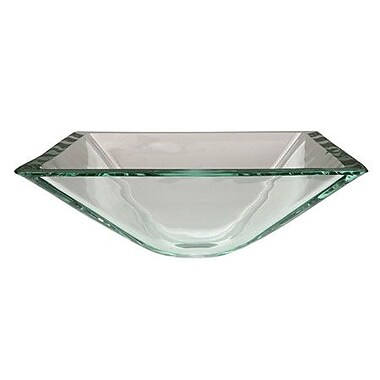 Elements of Design Glass Vessel Bathroom Sink