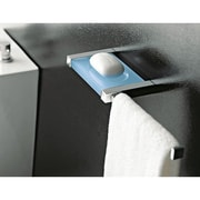 Toscanaluce by Nameeks Eden Wall Mounted Soap Dish Towel Rail; Light Blue