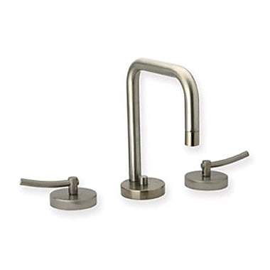 Whitehaus Collection Metrohaus Widespread Bathroom Faucet w/ Double Handles; Polished Chrome