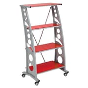 Pit Stop Furniture Racing Style 55'' Accent Shelves Bookcase; Red