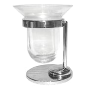 Artos Cantori Free Standing Tumbler and Toothbrush Holder; Brushed Nickel w/ Frosted Glass