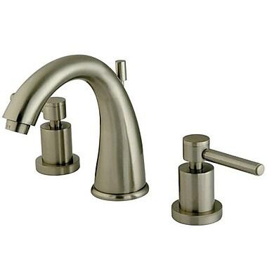 Elements of Design South Beach Double Handle Widespread Bathroom Faucet; Satin Nickel