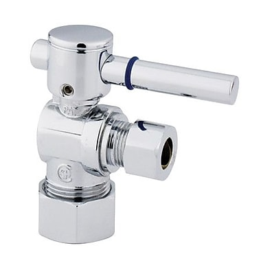 Elements of Design South Beach Angle Stop Valve; Polished Chrome