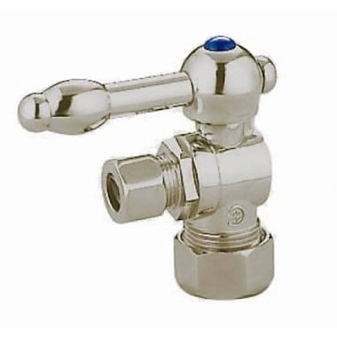 Elements of Design Decorative Quarter Turn Valves w/ Knight Lever Handles; Satin Nickel