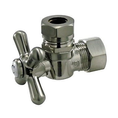 Elements of Design AQuarter Turn Valves w/ Cross Handles; Satin Nickel