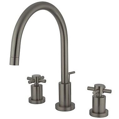 Elements of Design South Beach Double Cross Handle Mini-Widespread Bathroom Faucet; Satin Nickel