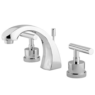 Elements of Design Sydney Double Handle Widespread Bathroom Faucet; Polished Chrome