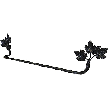 Quiescence Vineyard Wall Mounted Towel Bar; Ambered Bronze