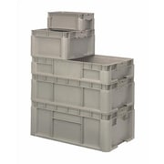 Quantum Heavy Straight Wall Stacking Storage Containers; 24'' L x 15'' W x 9.5'' H